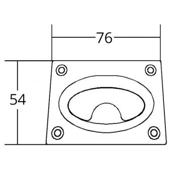 ALZAPAGLIOLO INOX 316 MM.76X54