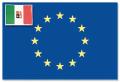 BANDIERA ADESIVA EUROPA ITALIA