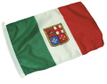 BANDIERA ITALIA MARINA MERCANTILE IN POLIESTERE ECONOMICO