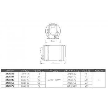 BOILER INOX ISOTEMP BASIC